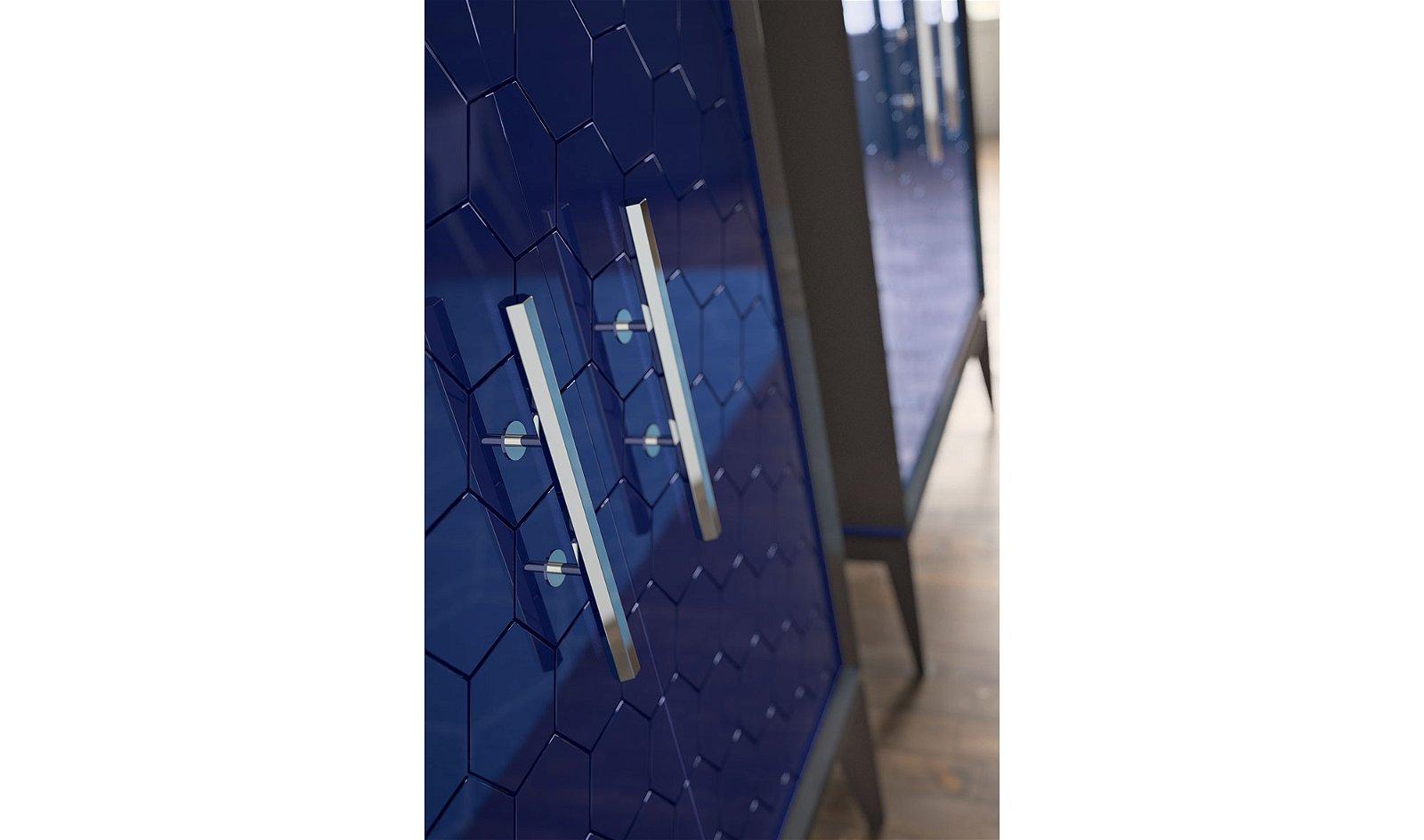 Vitrina 2 puertas con tirador triangle Beol