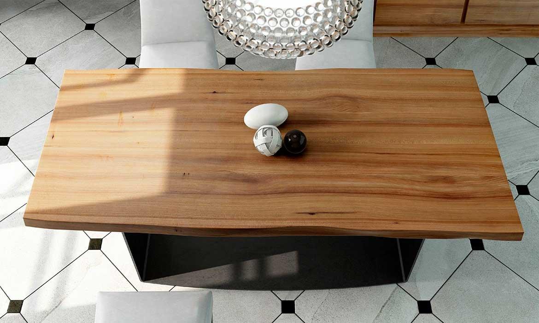 Mesa de comedor madera maciza olmo Maramures
