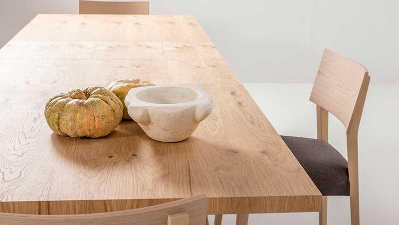 Mesa de comedor extensible retro Fley