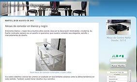 Mesas de comedor en blanco y negro en La decoradora Experta