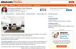 Camas redondas con Portobello en muebles.about.com