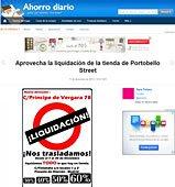 Aprovecha la liquidación con Portobello en ahorrodiario.com