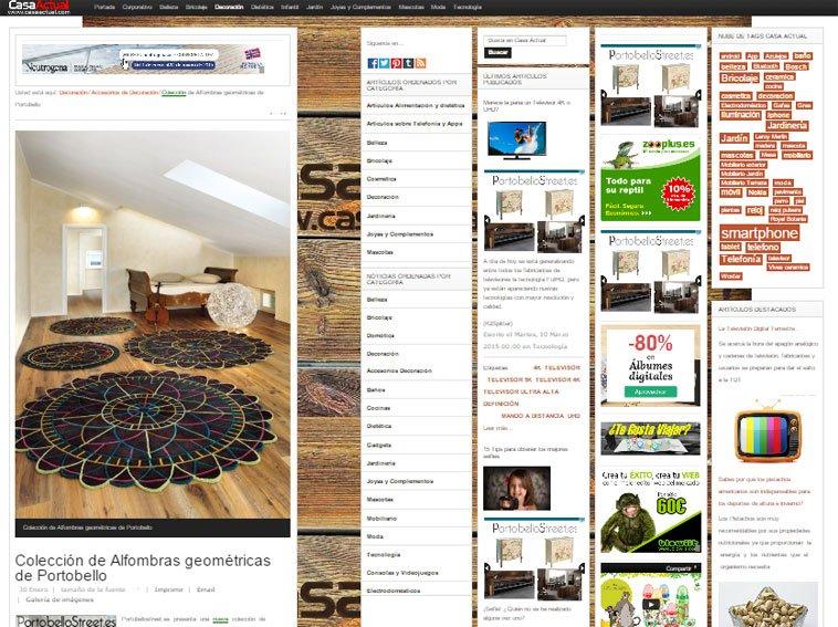 Colección de alfombras geométricas de Portobello