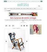 Butacas vintage con Portobello en micasarevista.com