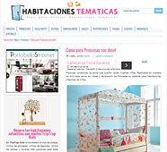 Cama para princesas con dosel en habitacionestematicas.com