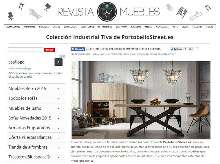 Colección industrial tiva con Portobello