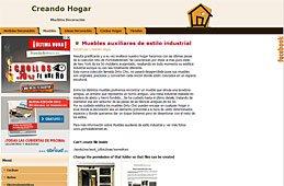 Muebles auxiliares de estilo industrial en Creando Hogar