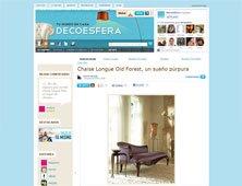 Chaise Longue Old Forest, un sueño púrpura