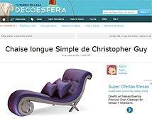Chaise longue simple de Chistropher Guy con Portobello en