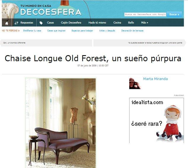 Chaise Longue Old Forest con Portobello en
