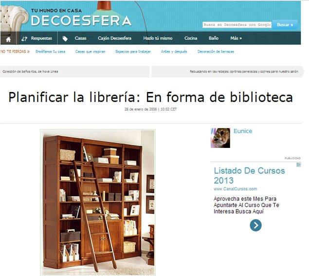 Planifica tu librería en forma de biblioteca con Portobello en