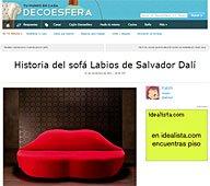 Historia del sofá Labios con Portobello en