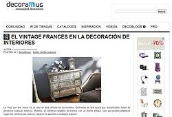 El Vintage Francés en la decoración de interiores en decoramus.com