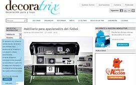 Mobiliario para apasionados del futbol en decoratrix.com