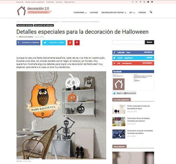 Detalles especiales para la decoración de halloween con Portobello