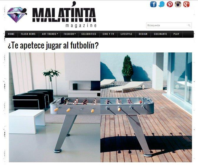 Portobello da juego con sus futbolines de diseño
