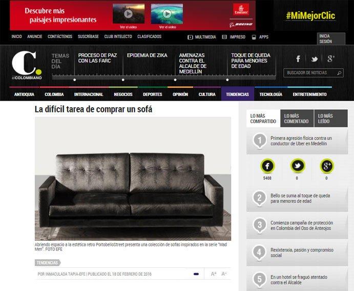 La difícil tarea de comprar un sofá con Portobello