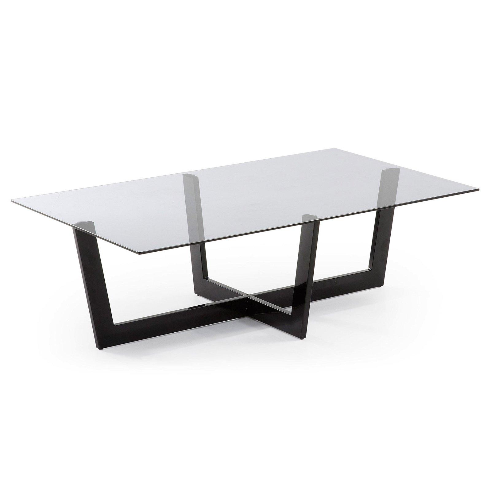 PLUM mesa centro epoxy negro cristal fume gris