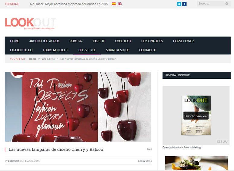 Las nuevas lámparas de diseño cherry con Portobello