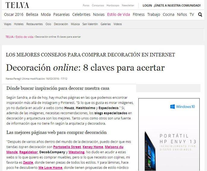Los mejores consejos para comprar decoración por internet con Portobello