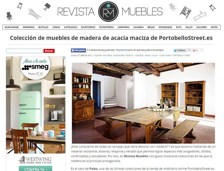 Colección de muebles de acacia maciza de Portobello