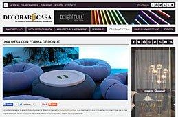 Mesa con forma de Donut con Portobello en decorarunacasa.es