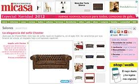 """La elegancia del sofá Chester en la revista """"micasa"""""""