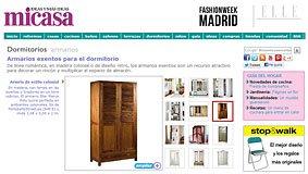 Armarios exentos para el dormitorio en micasarevista.com