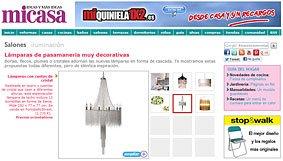 Lámparas de pasamanería muy decorativas en micasarevista.com