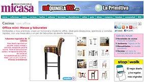 Office mini: Mesas y taburetes en micasarevista.com