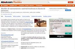 Muebles de microcemento con Portobello en muebles.about.com