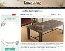 Mesas de microcemento con Portobello en decorablog.com