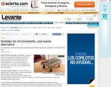Muebles de microcemento con Portobello en levante-emv.com