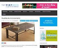 Muebles de microcemento con Portobello en blogtotpint.com