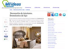 Decoración de interiores. Dormitorios de lujo en Milideas.net