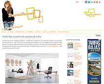 Muebles de madera de roble con Portobello en decoradecora.blogspot.com.es