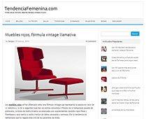 Muebles rojos con Portobello en tendenciafemenina.com