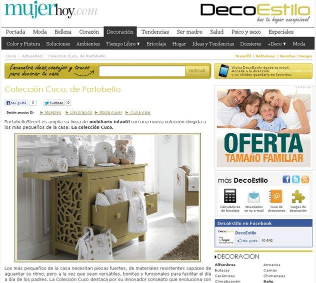 Colección cuco con Portobello en mujerhoy.com