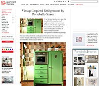 Neveras vintage con Portobello en apartmenttherapy.com