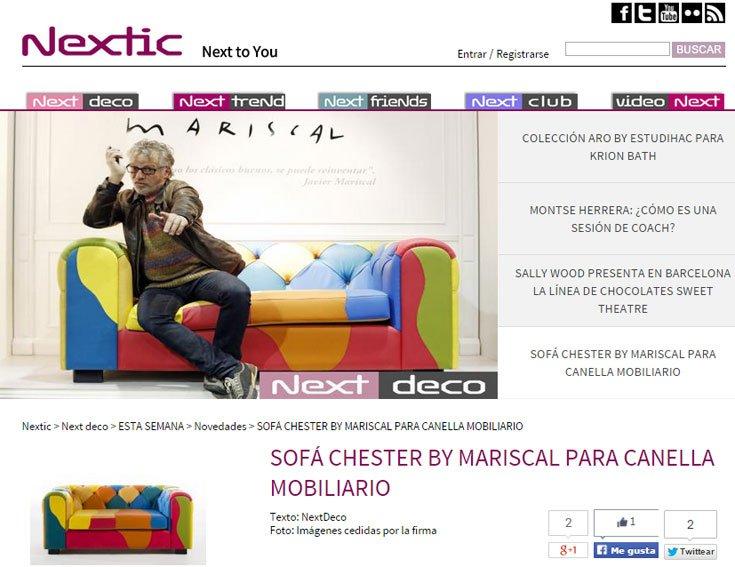 Sofá chester by Mariscal con Portobello