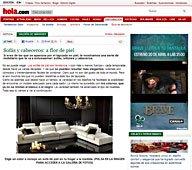 Sofa y Cabecero de Piel con Portobello en