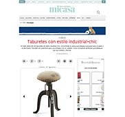 Taburete con estilo industrial con Portobello en foros.nuevo-estilo.es