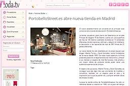 Tienda nueva de PortobelloStreet en boda.tv
