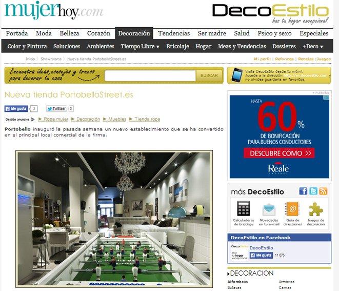 Tienda nueva de PortobelloStreet en decoestilo.mujerhoy.com