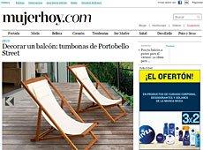 Tumbonas y hamacas con Portobello en mujerhoy.com