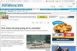 Una mesa de ping pong en tu comedor con Portobello
